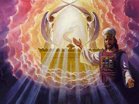 High Priest in holy of holies.